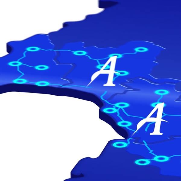 Motion design : carte de France Alpagel bleue
